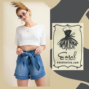 """Easel's """"All About the High Waist"""" Paper bag Short"""